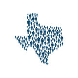 Concept de Texas Population dans la carte Conception de vecteur illustration stock