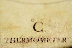 Concept de thermomètre et de degrés Celsius Image stock
