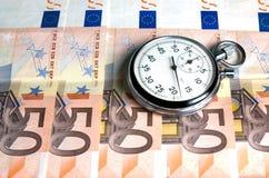 Concept - de Tijd is geld Stock Fotografie