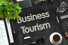 Concept de tourisme d'affaires sur le tableau noir rendu 3d Images libres de droits
