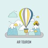 Concept de tourisme d'air Photographie stock