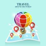 Concept de tourisme d'air Image stock