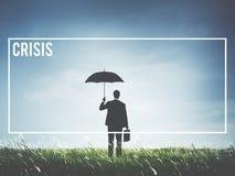 Concept de tournant de risque de catastrophe de récession de perte de crise Photographie stock libre de droits