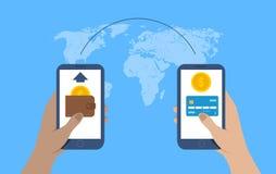 Concept de transfert d'argent Envoi d'argent Vecteur illustration de vecteur