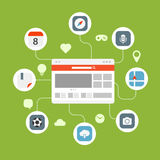 Concept de transfert de l'information de web browser Photos stock