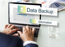 Concept de transfert de stockage de sauvegarde des données images libres de droits