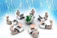 Concept de transmission d'affaires globales illustration stock