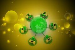 Concept de transmission d'affaires globales Photos libres de droits