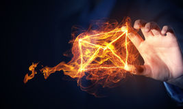Concept de transmission de messages d'email photographie stock libre de droits