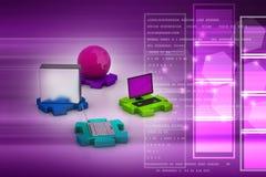 Concept de transmission de réseau et d'Internet Photos stock
