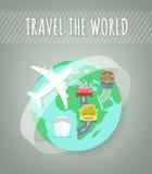 Concept de transport de voyage Images libres de droits