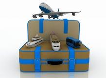 Concept de transport pour des voyages Photographie stock libre de droits
