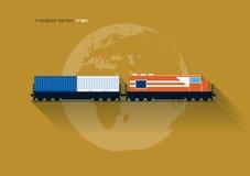 Concept de transport - train illustration de vecteur