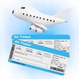 Concept de transports aériens Bande dessinée Toy Jet Airplane avec la ligne aérienne Boardi Photo libre de droits