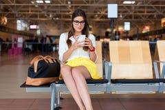 Concept de transports aériens et technologie moderne Images libres de droits