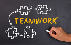 Concept de travail d'équipe Image stock
