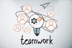 Concept de travail d'équipe illustration stock