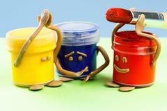 Concept de travail d'équipe Arts créatifs d'émotions joyeuses et tristes Photo stock