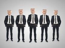 Concept de travail d'équipe d'homme d'affaires illustration de vecteur