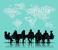 Concept de travail d'équipe de planification de collègue d'affaires de coopération Photographie stock