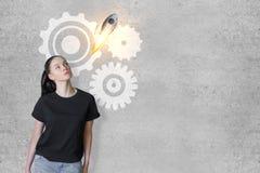 Concept de travail d'équipe et de démarrage Image libre de droits