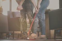 Concept de travail d'équipe et de communication Photo libre de droits