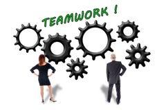Concept de travail d'équipe et de contribution Image libre de droits