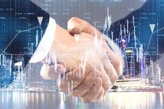 Concept de travail d'équipe et de finances photo stock