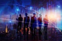 Concept de travail d'équipe, de finances et de réunion photographie stock