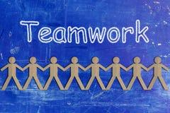Concept de travail d'équipe, groupe de personnes papier coupé Photo libre de droits