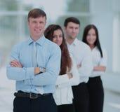 Concept de travail d'équipe le chef de l'équipe et du colleag d'affaires Photos stock
