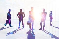 Concept de travail d'équipe, de réunion et de travail illustration de vecteur