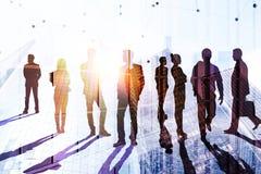 Concept de travail d'équipe, de succès et de conférence illustration stock