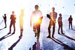 Concept de travail d'équipe, de succès et de recherches photo libre de droits