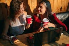 Concept de travail d'amis d'associés de pause-café Image libre de droits