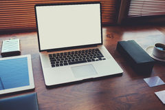 Concept de travail de commerce électronique et de distance Photo libre de droits