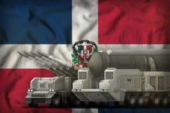 Concept de troupes de fus?e de la R?publique Dominicaine sur le fond de drapeau national illustration 3D illustration stock