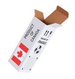 Concept de uitvoer - Product van Canada Royalty-vrije Stock Afbeelding