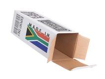 Concept de uitvoer - Product van Zuid-Afrika Stock Foto's