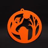 Concept de vacances de décor de fond de Halloween fantôme sur le fond noir photos stock