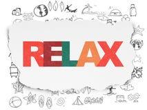 Concept de vacances : Détendez sur le fond de papier déchiré illustration libre de droits