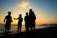 Concept de vacances de vacances d'été de partie de plage de célébration de personnes photo stock