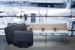 Concept de vacances d'été, refuge de terminal d'aéroport Image stock