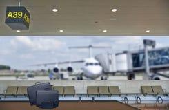 Concept de vacances d'été, refuge de terminal d'aéroport Photos libres de droits