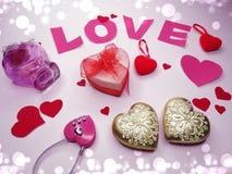 Concept de vacances d'amour de jour du ` s de valentine de carte de voeux Images libres de droits