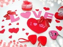 Concept de vacances d'amour de jour du ` s de valentine de carte de voeux Image stock