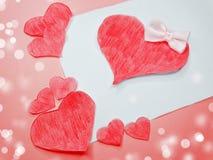 Concept de vacances d'amour de jour du ` s de valentine de carte de voeux Photo libre de droits