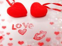 Concept de vacances d'amour de jour du ` s de valentine de carte de voeux Photos libres de droits