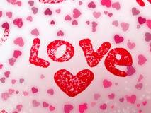 Concept de vacances d'amour de jour du ` s de valentine de carte de voeux Photographie stock libre de droits