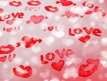 Concept de vacances d'amour de jour du ` s de valentine de carte de voeux Photos stock